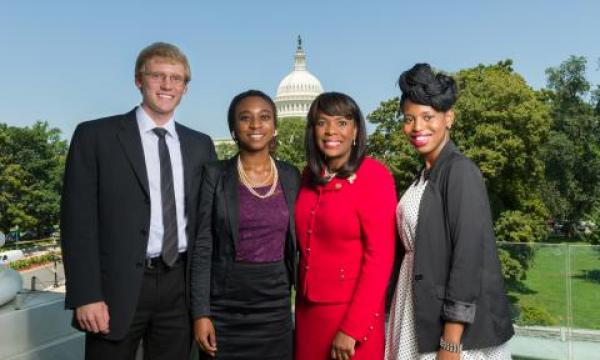 Congresswoman Sewell meets with Congressional Interns