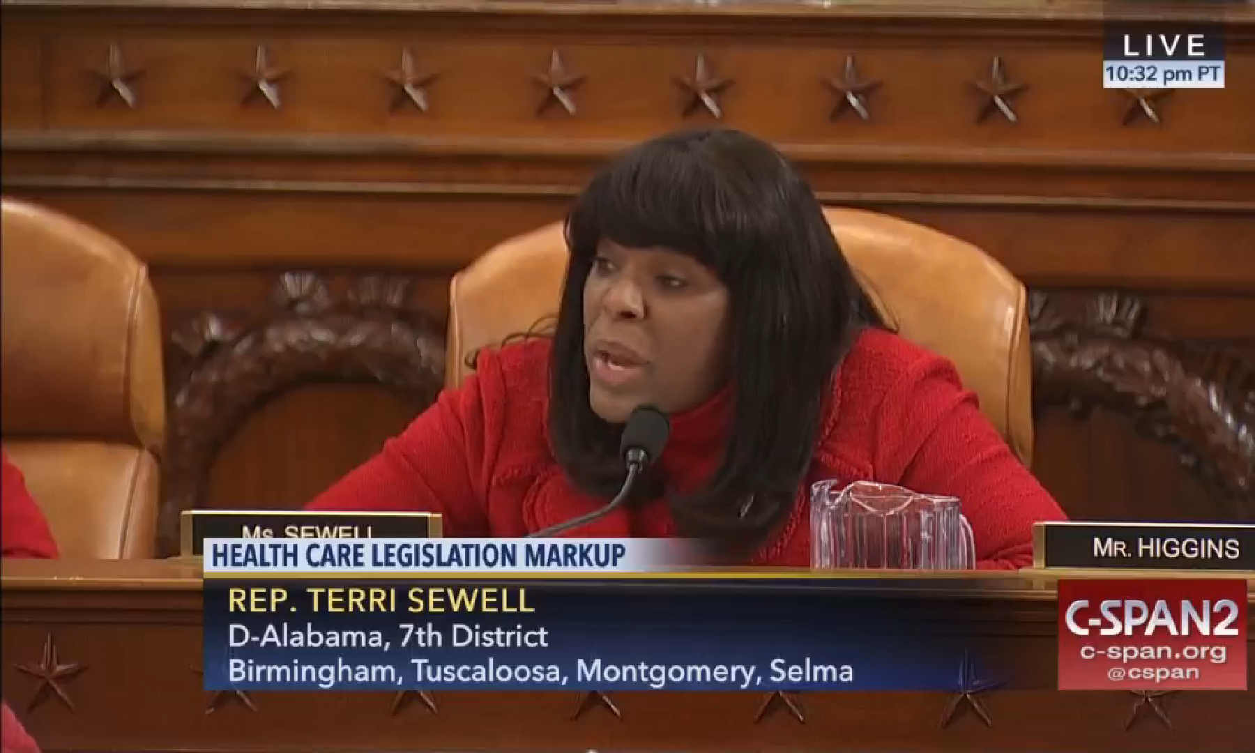 Congresswoman Sewell speaks at the Ways & Means Committee bill markup